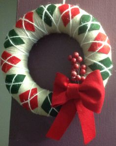 Do you want a yarn wreath holding in your door?