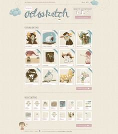 Textured web site design: sketch.odopod.com
