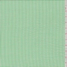 Spring Green Gingham Check Seersucker - 29548 - Fabric By The Yard At Discount Prices - $4.45