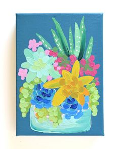 """Painting-A-Day """"Elle"""" — Julie Marriott Acrylic Painting Canvas, Diy Painting, Painting & Drawing, Painting Abstract, Small Canvas Art, Painting Workshop, Colorful Paintings, Art Floral, Painting Inspiration"""
