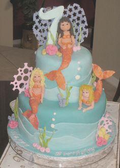 Mermaids birthday cake by sharoncakes, via Flickr
