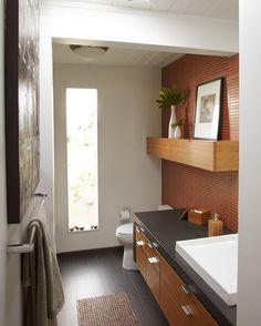 Eichler bathroom. For the mid-century modern home. #designpublic