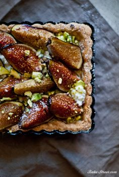 Roasted figs, ricotta and honey cake with cinnamon - Pastel de higos asados, miel y requesón a la canela