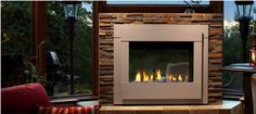 Outdoor Lifestyles Twilight Modern See-Through Gas Fireplace