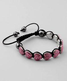 Take a look at this Pink Hearts Shambala Bracelet by In Things on #zulily today!