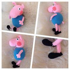 George Wutz Peppa Wutz Pig Spielzeug Kuscheltiere Häkeltier Amigurumi in Spielzeug, Film & Fernsehen, Sonstige | eBay