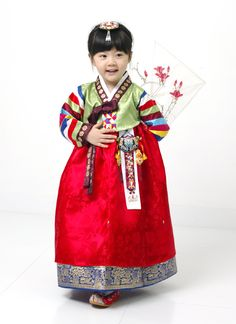 Cutty girl is wearing Korean clothes.