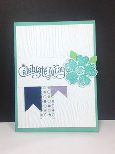 Perfectly Penned, Flower Shop Bundle, Build a Blossom Punch, Woodgrain Embossing Folder, Birthday or an All Occasion Celebration Card, Love the colors
