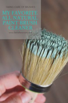 My Favorite All Natural Paint Brush Cleaner Don't make cleaning your brushes hard! This guide will show you how easy cleaning your brushes can be with my favorite all natural paint brush cleaner! Furniture Painting Techniques, Chalk Paint Furniture, Painting Tips, Chalk Painting, Paint Techniques, Refinished Furniture, Furniture Refinishing, Repurposed Furniture, Chalk Paint Brushes