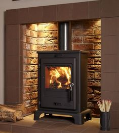 4.9KW Flavel Dalton Multifuel Stove | Buy Modern Multi Fuel Stoves Online | UK Stoves