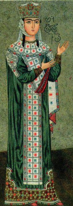 Queen Tamar of Georgia(1160 - 1213), Betania Monastery, Tbilisi (19th century restoration of 12th century original)