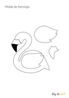 Móbile de flamingo em feltro: passo a passo com molde grátis - Blog do Elo7