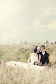 Wedding Photography Ideas : Lovely wedding photo The photographer caught a natural smile from the bride!