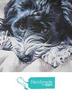 "A Havanese dog art portrait print of an LA Shepard painting 11x14"" from LA Shepard Dog Art http://www.amazon.com/dp/B017V2TD5M/ref=hnd_sw_r_pi_dp_jDPnxb0402C8S #handmadeatamazon"