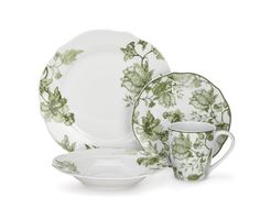 Pretty set to mix n match with other colors for the holidays. Cuisinart Loiret Collection 16-Piece Porcelain Dinnerware Set