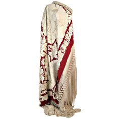 1920's Embroidered Silk Piano Shawl ❤ liked on Polyvore featuring accessories, scarves, dresses, silk shawl, floral shawl, shawl scarves, long shawl and floral print scarves