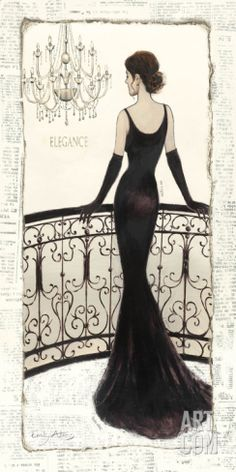 La Belle Noir Print by Emily Adams at Art.com