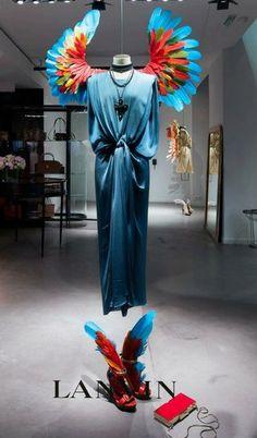 #Merchandising Lanvin. Adding creativity to window displays