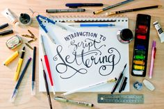 Basic Script Lettering 101 by Tosha Seeholzer on atly.com  This class is for anyone and everyone who has ever wanted to learn the basics of lettering. More specifically, script lettering! Learn a little bit about typography, the best tools to use, and a few tips and tricks I've learned along the way.