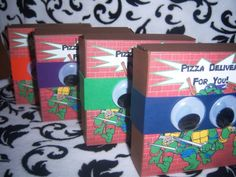 Ninja Turtle Pizza Box Favors | Teenage Mutant Ninja Turtles Pizza Box Invitations ...