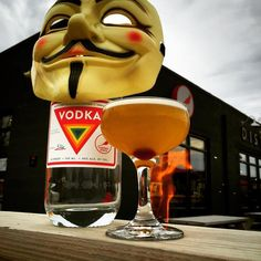"""Remember remember the 5th of November. The """"Gunpowder Treason"""" cocktail made with smoky Lapsang Souchong tea pineapple lemon vodka and aromatic bitters."""