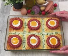 Tejszínes napocska Eggs, Breakfast, Recipes, Food, Morning Coffee, Recipies, Essen, Egg, Meals