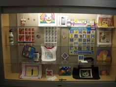 """Tuscarora Elementary School's principal was so excited when he saw how great our sample products are, that he allocated this huge display case along with an additional one by the art room. """"Thank you again for sending all of the samples. It helps so much to have the items to show both the students and parents!"""" ~Shannon Welsh, Art Teacher"""