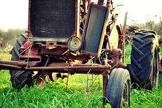 Yard Art - Old farmall tractor