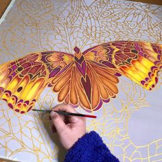 Working on this bespoke piece, colours to match three pieces the customer already has Watercolor Flowers, Watercolor Art, Artisan Works, Colorful Abstract Art, Silk Art, Butterfly Art, Painting Patterns, Fabric Painting, Original Art