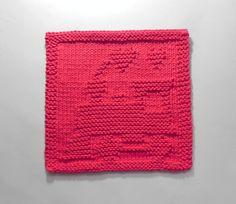 TRAIN Baby Wash Cloth. Hand Knitted 100% por AuntSusansCloset