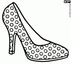 High heel shoe with polka dots