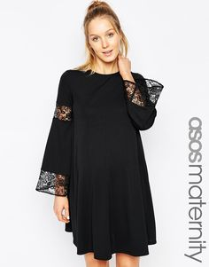 ASOS+Maternity+Swing+Dress+With+Lace+Insert $54