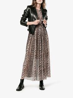 Ganni Olivet leopard print maxi dress