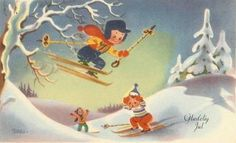 Winter Fun At The Hill 1959