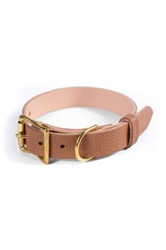 Free Id, Personalized Dog Collars, Leather Apron, Leather Dog Collars, Brass Buckle, Dog Gifts, Brown Leather, Brass Hardware, Handmade Leather