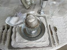 Image detail for -Purple Chocolat Home: Glittery Easter Tablescape