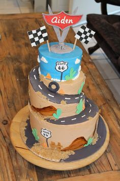 Cars Cake By The Cake Artist
