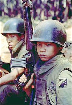ARVN soldiers - Battle of Xuan Loc, Vietnam War, south Vietnam soldiers  - they look like very young boys