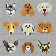 Dog cross stitch pattern pdf Dog embroidery pattern Hoop art