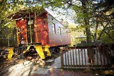 4. Livingston Junction Caboose Lodges: Located in beautiful Eureka Springs, these cabooses are situated comfortably on the mountainside with a grand view of the historic site of railroading as it was in the past.