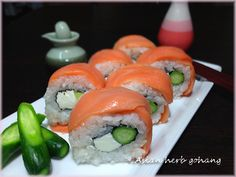 Avocado Salmon Philadelphia Rolls