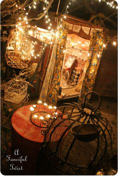 So beautiful.♥♥♥ {perfect atmosphere to re-create for the gypsy party♥}