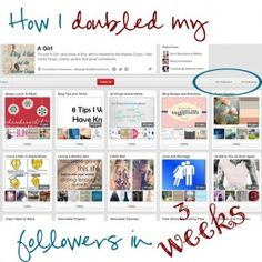 How I Doubled My Pinterest Follows in Three Weeks – A Boy, A...