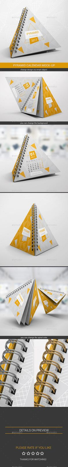 Pyramid Calendar Mock-Up - Miscellaneous Print. https://graphicriver.net/item/pyramid-calendar-mockup/18296432?ref=fisihsani
