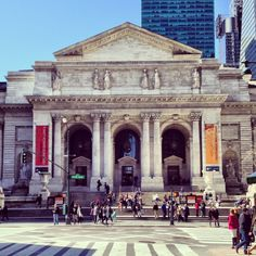 New York Public Library in New York NY Posted by NYC Office Suites - Architecture New York Public Library, Public Libraries, Office Suite, Education Architecture, New York Travel, Places To See, New York City, Nyc, Explore