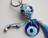Beautiful keychain with Evil Eye