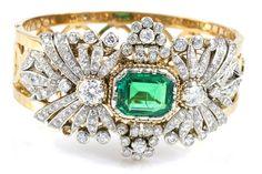 Chanel emerald and diamond bracelet