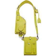 Alexander Wang Runway Survival Kit ($1,295) ❤ liked on Polyvore featuring bags, handbags, accessories, citrine, alexander wang, pocket bag, handbags shoulder bags, alexander wang purse and military bag