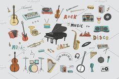 Musical Instruments accordion background band bass cartoon cassette clarinet classical concert design disco doodle double drawing drum electric glockenspiel graphic grey guitar harp illustration instrumental instruments isolated jazz keys microphone music musical musician objects old orchestra piano pipe player record rock saxophone sketch sound speakers stereo synthesizer tambourine trendy vector vintage wind pattern line art
