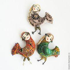 """Купить Брошь """"Птица радости"""" - брошь, птичка, райская птица, оригинальный подарок, эксклюзивный подарок"""